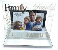 Family Photo Frame Gift Presents Birthday Silver Plated Frame Mum Dad