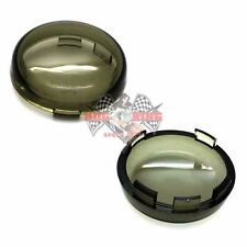 2 Smoke Turn Signal Lenses Kit for 2002-2016 Harley Bullet Dome Style Blinker