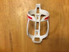 Giant Brand Water Bicycle Bottle Cage - White and Red - Bike