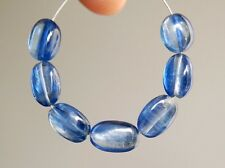 Natural Blue Kyanite Smooth Plain Oval Gemstone Beads
