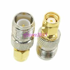 1pce Adapter Connector RP-TNC female plug to RPSMA male jack for Wireless WiFi