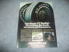 "1978 Goodyear GT Radial Vintage Ad ""Writing the Book on Street Performance"""