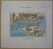 1875 Perron map LISBON & VICINITY, PORTUGAL (#171)