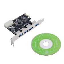 4 Port 5Gbps Superspeed USB 3.0 PCI-E PCI Express Card Adapter for XP/Win7 BY