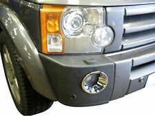 Chrome front FOG LIGHT lamp surrounds for Land Rover Discovery 3 bezel trim spot