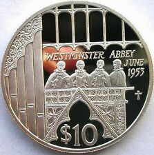 Fiji 2002 Westminster Abbey 10 Dollars Silver Coin,Proof