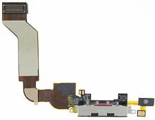 IPHONE 4S DOCK BLOCK CONNECTOR USB CHARGING PORT FLEX CABLE BLACK MIC D49