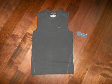NWT TOMMY HILFIGER Athletic 100363 Comp Cotton Blend Muscle Shirt Size S Black