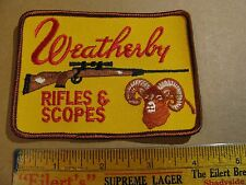 WEATHERBY  RIFLE SCOPES GUN HUNTING HAT PATCH PISTOL SHOTGUN  HUNTERS ELK DEER
