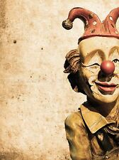 OLD VINTAGE CLOWN MODEL DOLL CIRCUS PHOTO ART PRINT POSTER PICTURE BMP2395A