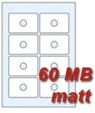 40 CD Etiketten für CD / DVD Visitenkarten Rohlinge für Inkjet Drucker