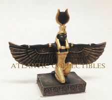 """Ancient Egyptian Decor Goddess Isis Open Wings Miniature 3.5""""L Figurine Statue"""