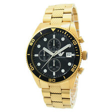NEW EMPORIO ARMANI AR5857 GOLD MENS CHRONOGRAPH WATCH - 2 YEAR WARRANTY