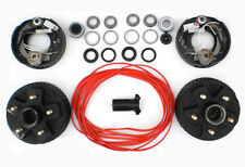 "Add Electric Brakes to trailer Complete Dexter kit 2000 Axle 5 Lug 5x4.5 7"" Drum"