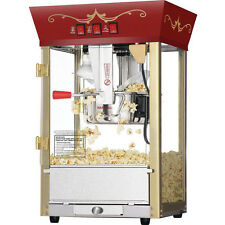 New Commercial Popcorn Popper Maker Machine Red Antique Fund Raising Event Movie