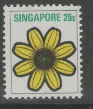 SINGAPORE SG217 1973 25c FLOWERS & PLANTS MNH