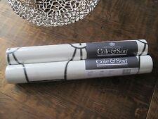 COLE & SON GEOMETRIC II RIVIERA WALLPAPER 105/6026 BLACK / WHITE