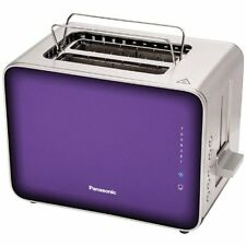 Panasonic NT-ZP1V Breakfast Collection 2-Slice Toaster, Stainless Steel & Violet