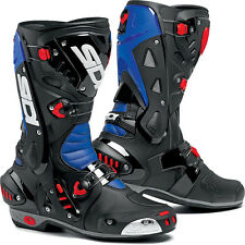 Sidi Vortice Street Motorcycle Boots Blue Black Red EU 42 US 8.5 Closeout