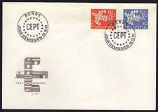 SUISSE - EUROPA CEPT / 1961 ENVELOPPE PREMIER JOUR - FDC (ref 1339)