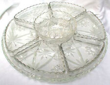 EAPC LAZY SUSAN 8 PC RELISH TRAY PLATTER  STAR OF DAVID ANCHOR HOCKING