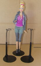 3 -Barbie Doll Stands by Kaiser  # 2275 3 new BLACK for Monster High, Liv Dolls