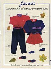 PUBLICITE ADVERTISING 114 1993 JACADI vêtements pour enfants