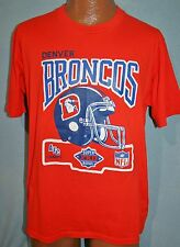 Vintage DENVER BRONCOS AFC Champs SUPER BOWL XXII 1987 50/50 T-SHIRT L Soft Thin