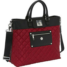 "Knomo Ravello Quilted Berry Laptop 13"" E/W Flap-Tote or Purse Bayswater NEW"