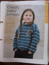 Child's Sailor Jumper and Hat Pattern from Art of Knitting Magazine