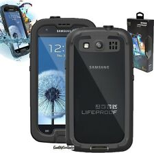 NEW Authentic LifeProof fre Galaxy S3 SIII Waterproof Case - Black/Clear