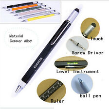 EDC Tactical 6in1 Multi Function Pen with Touch Screen Ruler Level  Screwdriver