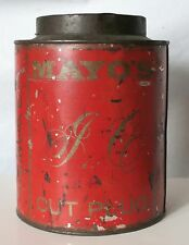 MAYO'S TOBACCO SCARCE AND HARD TO FIND RED TEA ANTIQUE TIN