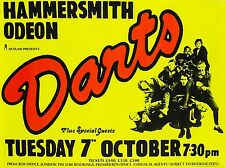"""Darts Hammersmith Odeon 16"""" x 12"""" Reproduction Concert Poster Photo"""
