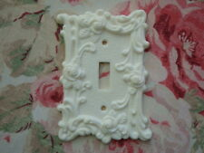 Shabby & Chic Roses & Flourish Single Toggle Wall Plate French Country