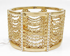 KENNETH COLE 'Blue Rays' Pave & Multi-Chain Gold-Tone Hinged Cuff Bracelet $65