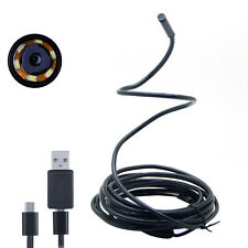 3.5M 7mm 6LED Rigid Cable Android Endoscope OTG Micro USB Inspection Camera IP66