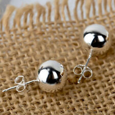 1Pair 3mm Round Plain Ball Ear Stud-Pure 925 Sterling Silver Solid Earrings Gift