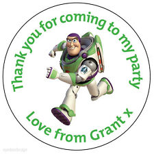 Personalised Buzz Lightyear 37mm Birthday Stickers Party Thank You Seals -160