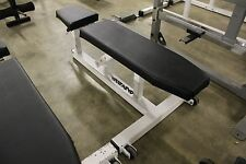 Dynabody Flat to Incline Adjustable Bench Used Commercial White Black Heavy Duty