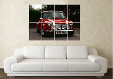 Large Austin Rover MIni John Cooper Modified Car Wall Poster Art Picture Print