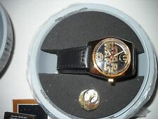1996 STAR WARS  FOSSIL LIMITED EDITION *GOLD* WATCH #394/1000 *NEVER WORN*