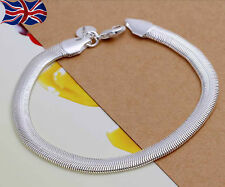 925 Sterling Silver Snake Chain Bracelet Bangle Anklet Gift Bag UK