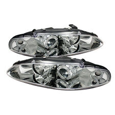 Mitsubishi Eclipse projector head light front lamp Halo chrome 95 96