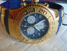 AQUASWISS 41mm  High Polished 18K Ion-Plated Gold Stainless Steel Chrono Watch
