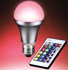 AURAGLOW Remote Controlled Colour Changing Light Bulb ES E27 Screw