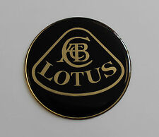 BLACK & GOLD LOTUS Sticker/Decal - 18mm DIAMETER HIGH GLOSS DOMED GEL FINISH