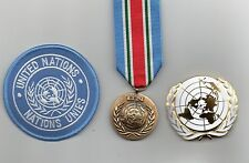 UNITED NATIONS MEDAL FOR SYRIA ,UN BERET BADGE AND SLEEVE BADGE -SUPERB LOT