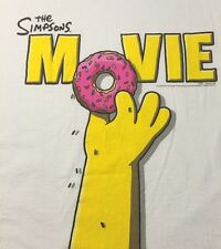 Simpsons The Movie T Shirt XL Extra Large Graphic Tee 100% Cotton Short Sleeve