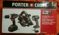 Porter Cable 18V System 3 Tool Combo Kit Drill Driver Circular Saw & Flashlight